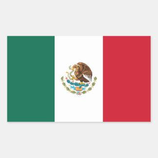 México/bandeira mexicana adesivo em forma retangular