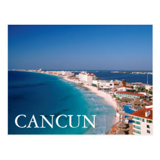 México, Cancun, vista aérea dos hotéis Cartão Postal