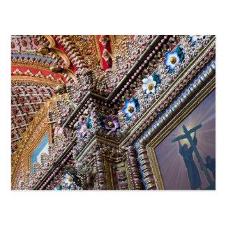 México, Queretaro. Detalhe dentro do católico Cartão Postal
