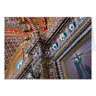 México, Queretaro. Detalhe dentro do católico orna Cartoes