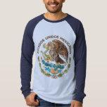 México - selo dos mexicanos dos unidos dos estados t-shirts