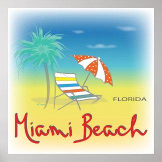 Miami Beach, cadeira de FL Poster