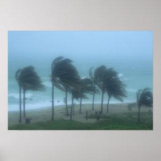 Miami Beach, Florida, chicotada dos ventos de fura Pôster
