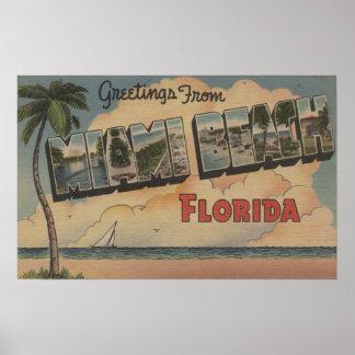Miami Beach, Florida - grandes cenas da letra Poster