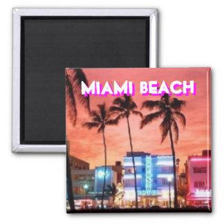 Miami Beach, Florida Ímã Quadrado