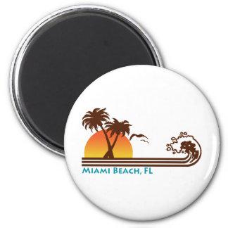 Miami Beach Ímã Redondo 5.08cm