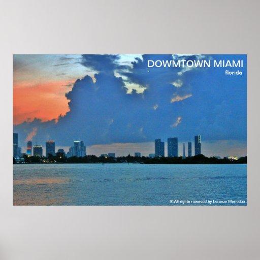 Miami do centro Florida Pôsteres