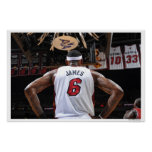 MIAMI, FL - 22 DE MAIO:  LeBron James #6 dos 2 Poster