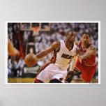MIAMI, FL - 24 DE MAIO:  Dwyane Wade #3 do Miami 2 Posteres