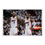 MIAMI, FL - 2 DE JUNHO: LeBron James #6 e Dwyane Posters