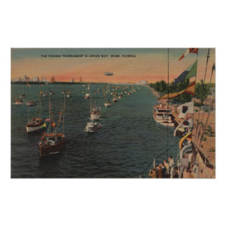 Miami, Florida - ideia da pesca Poster