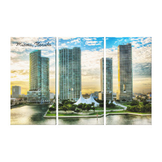 Miami Florida no nascer do sol Impressão Em Tela