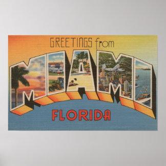 Miami, letra ScenesMiami de FloridaLarge, FL 2 Poster