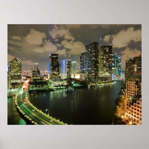 Miami na noite impressão