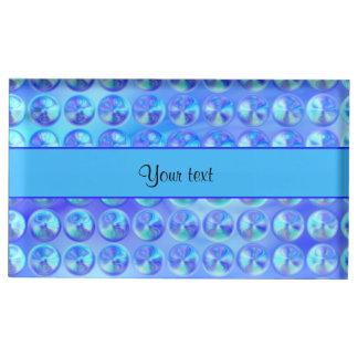 Miçanga azul Glassy Suportes Para Cartao De Mesa