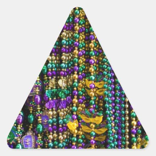 Miçanga do carnaval adesivo em forma de triângulo