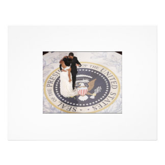 Michelle e Barack Obama Modelo De Panfletos