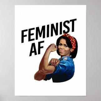 Michelle Obama - AF feminista -- Pôster