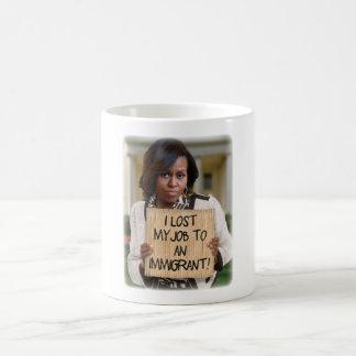 Michelle Obama - trabalho perdido a uma caneca