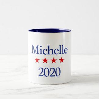 Michelle para o presidente caneca de café em dois tons