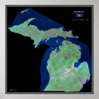Michigan do poster do satélite do espaço
