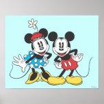Mickey Mouse clássico & Minnie Impressão