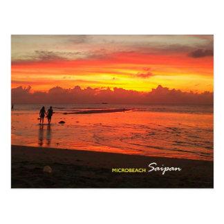 Micro praia, cartão de Saipan