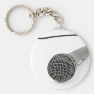 Microfone do estúdio chaveiro