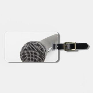 Microfone do estúdio etiqueta de bagagem