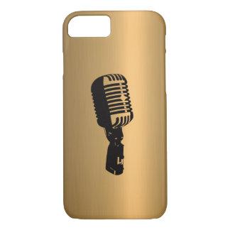 Microfone no efeito de cobre de bronze capa iPhone 7