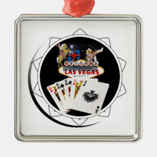Microplaqueta de póquer preta do sinal de ornamento quadrado cor prata