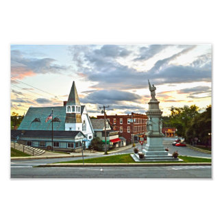 Middlebury, Vermont, no por do sol Foto