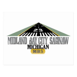 Midland Bay City Saginaw MI - aeroporto Cartão Postal