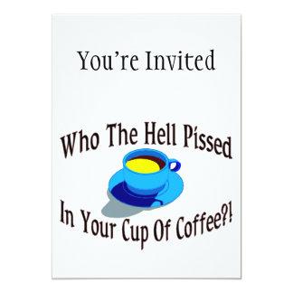 Mijado em seu café convite 12.7 x 17.78cm