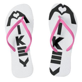 Mikey sandálias cor-de-rosa/brancas de Shanley