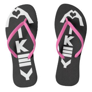 Mikey sandálias pretas/cor-de-rosa de Sanley