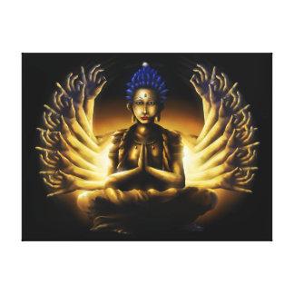Mil braços Buddha - impressão XL das canvas Impressão Em Tela