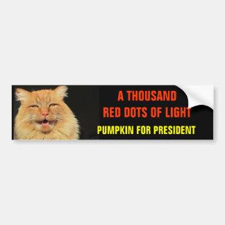 Mil pontos vermelhos da abóbora clara para o adesivo para carro