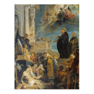 Milagre de Peter Paul Rubens- de St Francis Cartao Postal