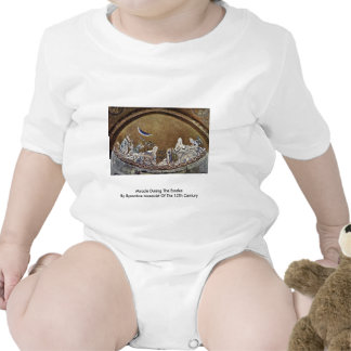 Milagre durante o êxodo pelo Mosaicist bizantino Macacãozinho Para Bebês