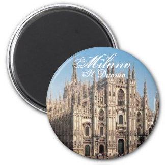 Milano_Duomo, domo de Milão, IL Ímã Redondo 5.08cm