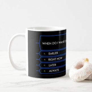 Milhão canecas de café engraçadas da pergunta do