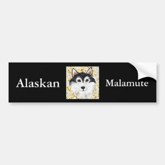 Milhão Malamute do Alasca do dólar Adesivo Para Carro