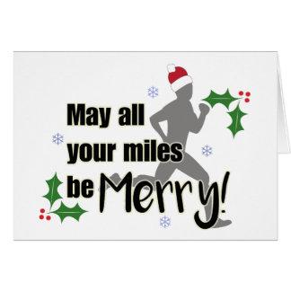 Milhas alegres cartão de Natal de 2,0 corredores