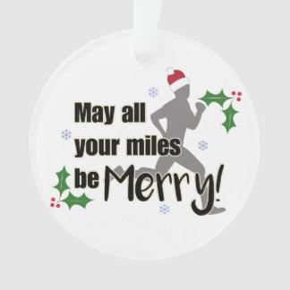 Milhas alegres enfeites de natal de 2,0 corredores