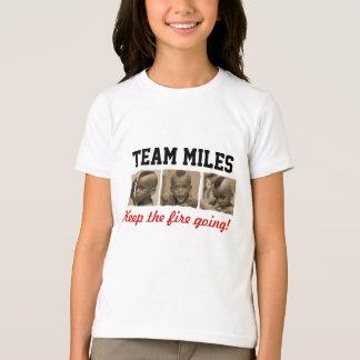 Milhas da equipe - camisa dos miúdos