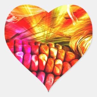 milho listrado quente adesivo coração