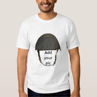 military helmet tshirt