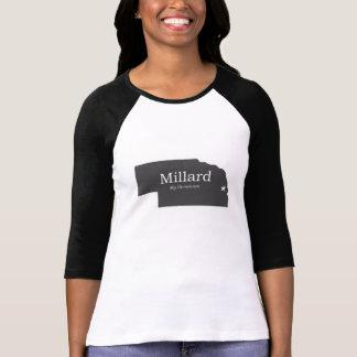 Millard Nebraska minha camisa da cidade natal T-shirt