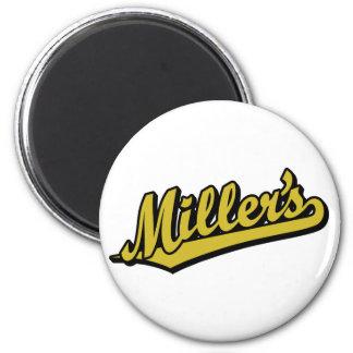 Miller no ouro imas de geladeira